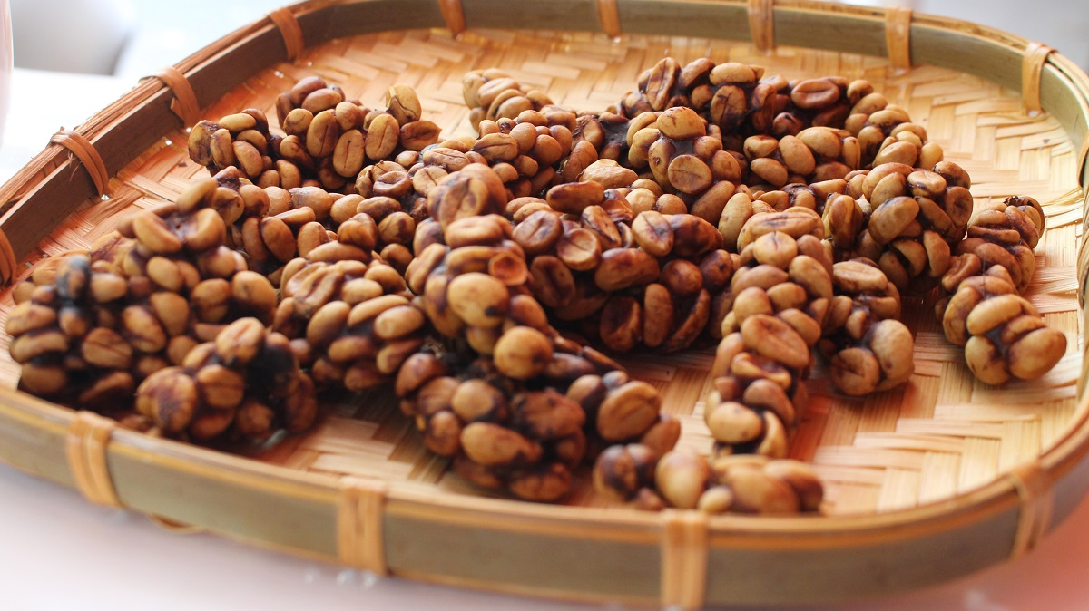 Hạt cà phê sau khi được chồn tiêu hóa