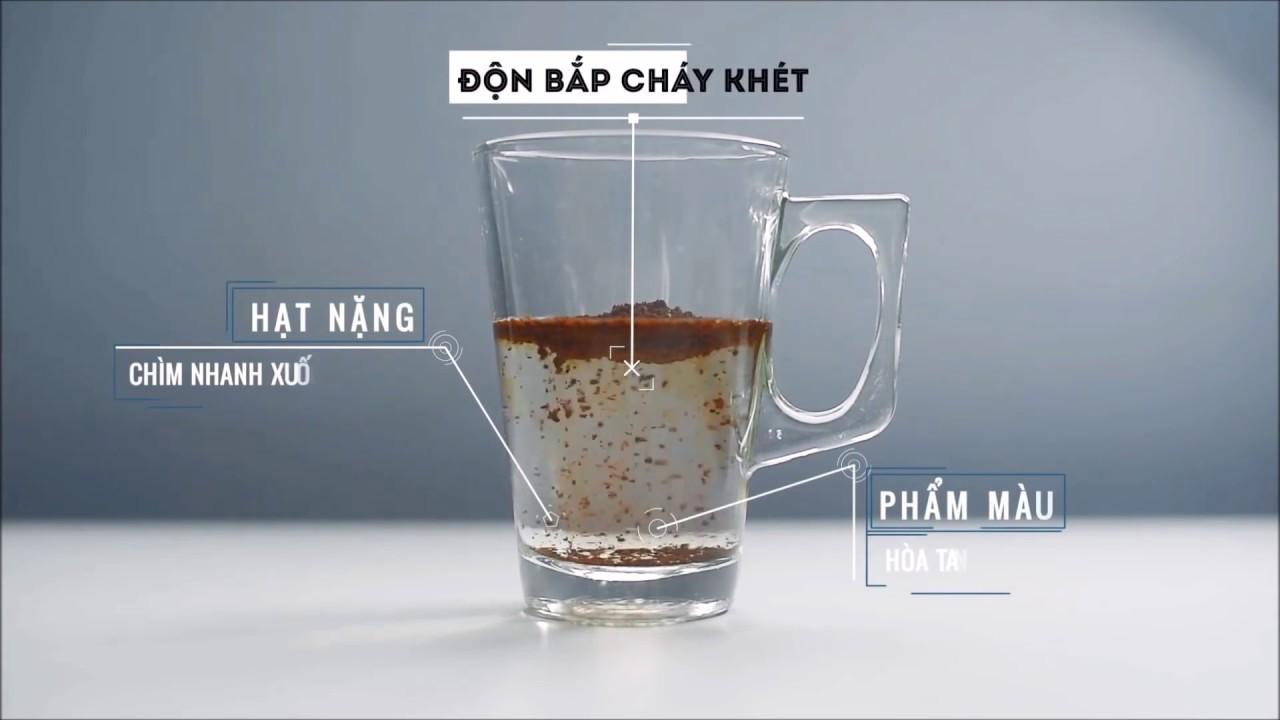 Cà phê nguyên chất có độ lắng chậm.