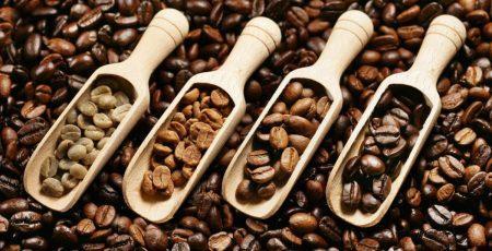 Cà phê có màu khác nhau khi rang