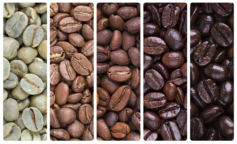 Cà phê khác nhau về màu sắcCà phê khác nhau về màu sắc