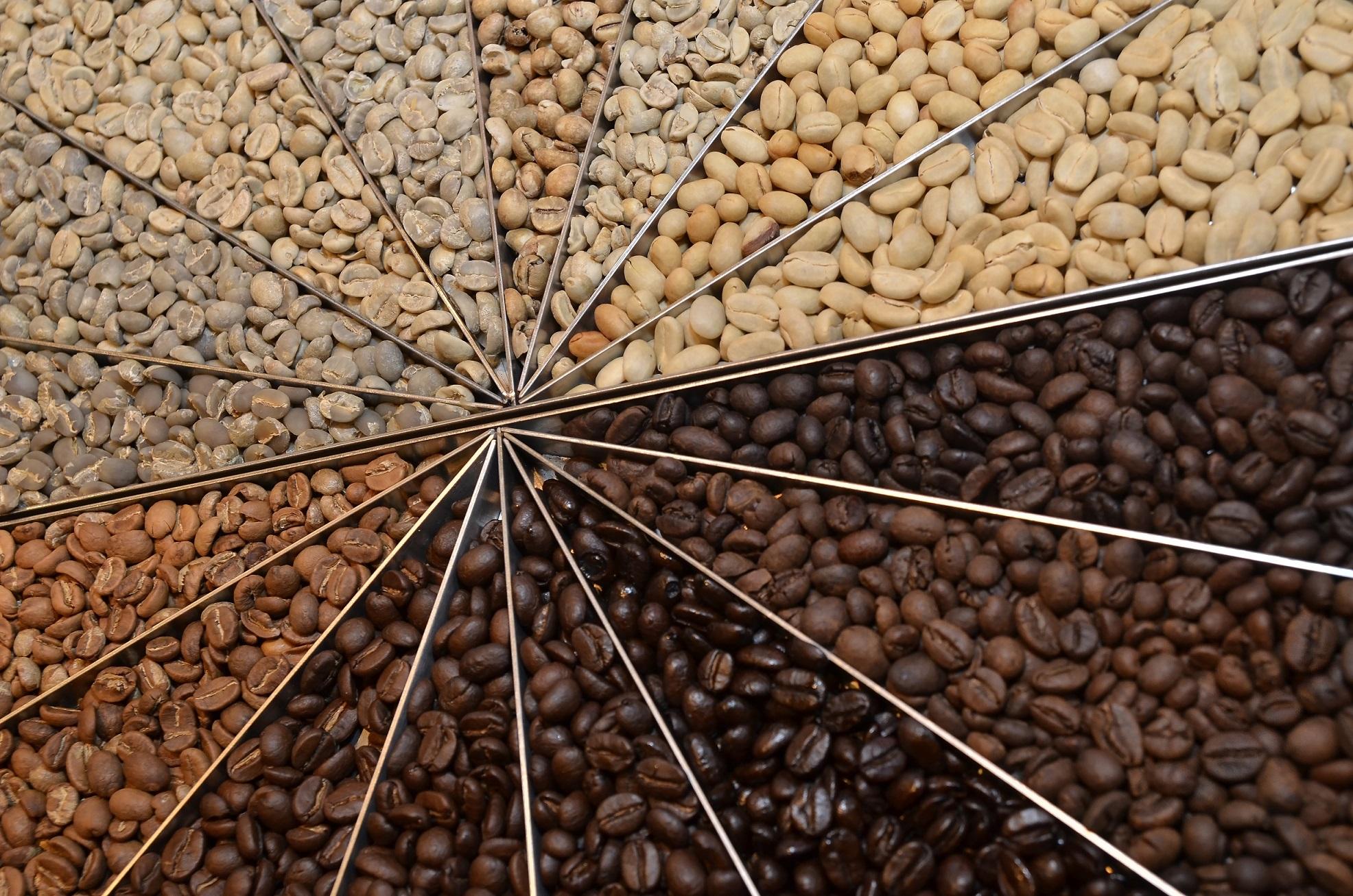 Những mức độ khác nhau khi rang cà phê