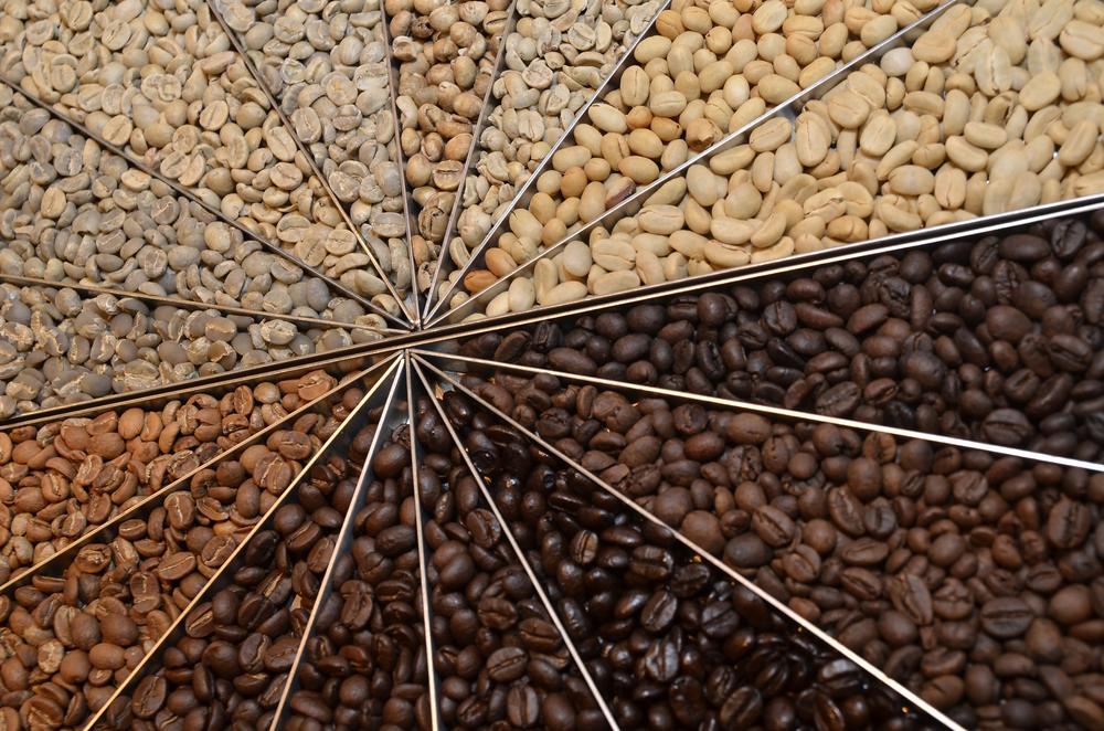 Màu cà phê khác nhau phân biệt lượng cafein