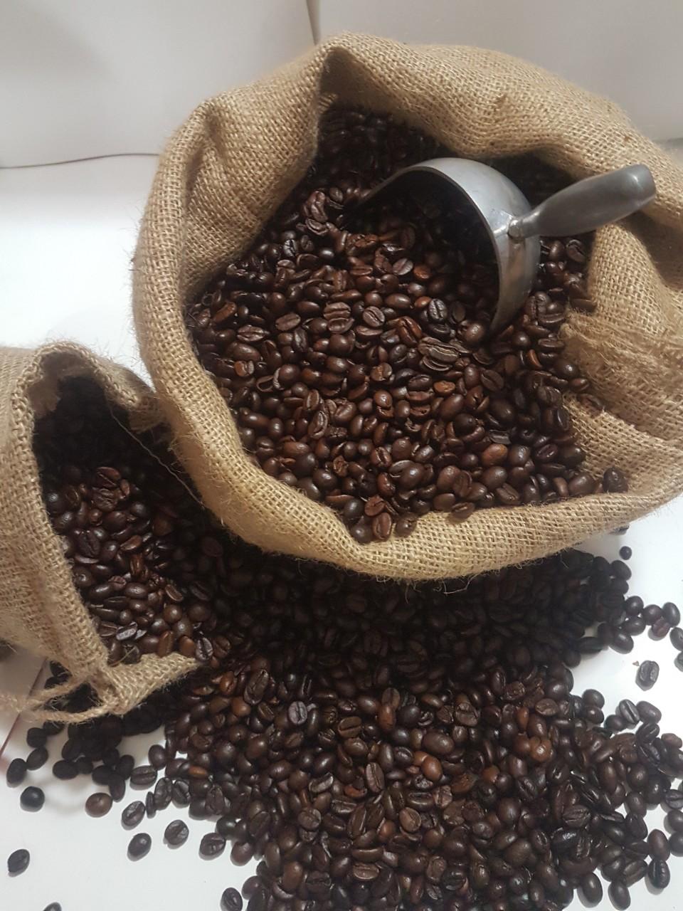 Cà phê hạt rang xay nguyên chất 100%