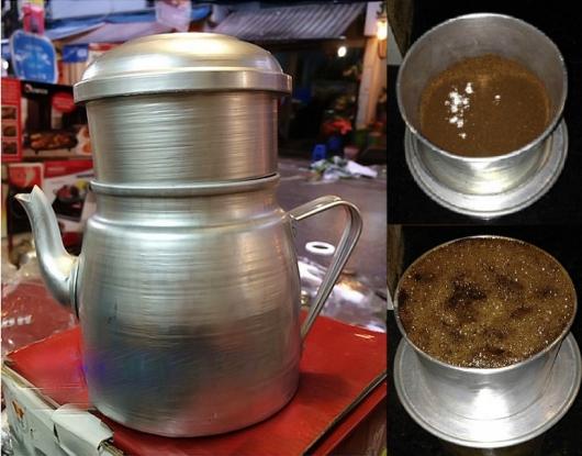 Cách pha cà phê phin lớn cũng tương tự phin nhỏ