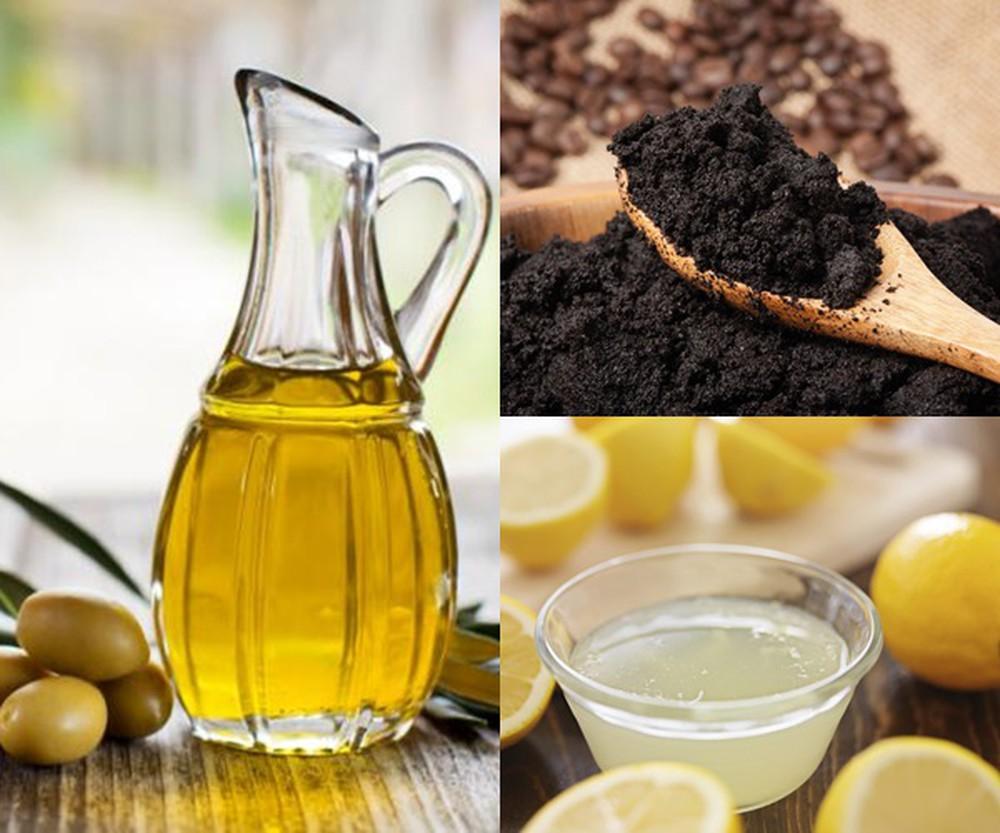 Mặt nạ Bột cà phê và dầu ô liu