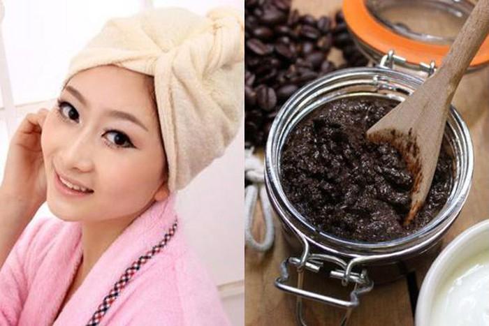 Sử dụng Bã cà phê trị rụng tóc