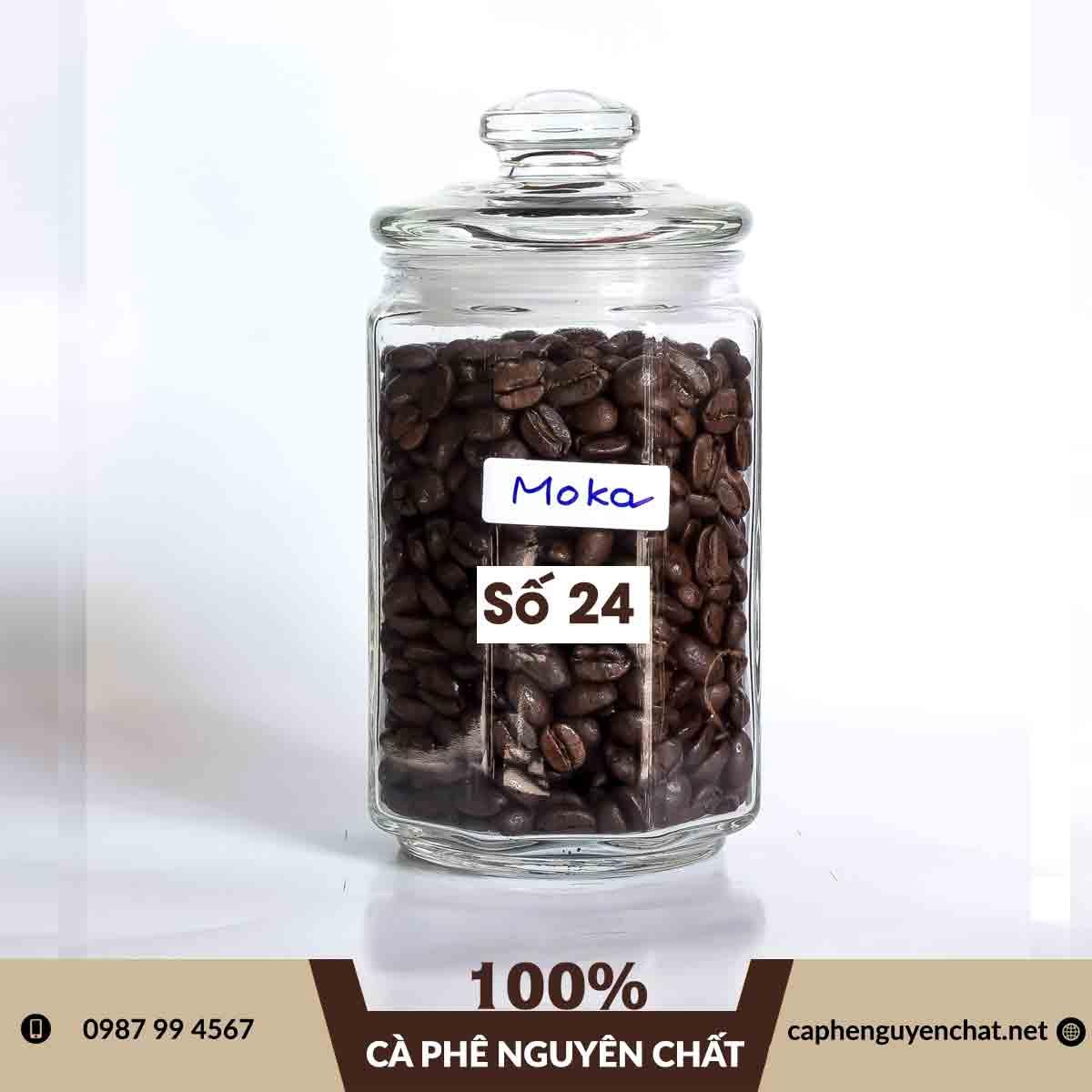 Cà phê Moka Cầu Đất nguyên chất do Cà Phê Nguyên Chất cung cấp